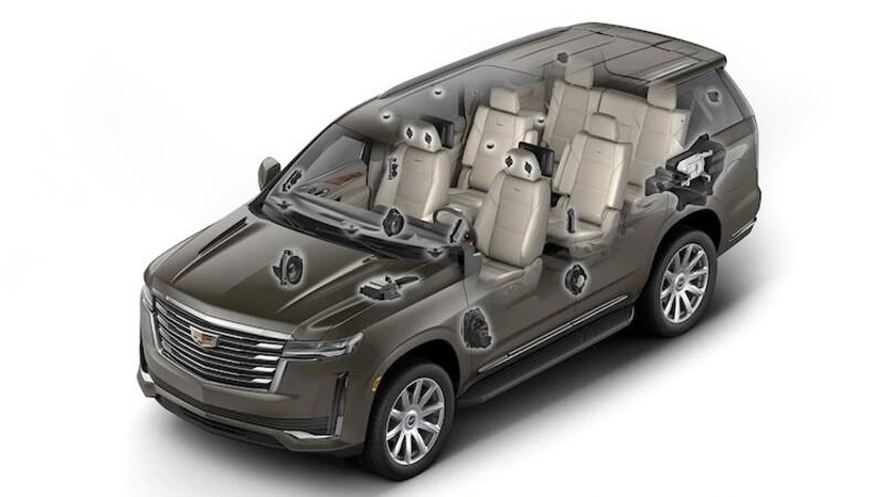 Qué innovaciones presenta el sistema de sonido de 36 bocinas de la Cadillac Escalade 2021
