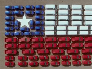 Nissan Chile postula a los Record Guinness con gran bandera formada por autos