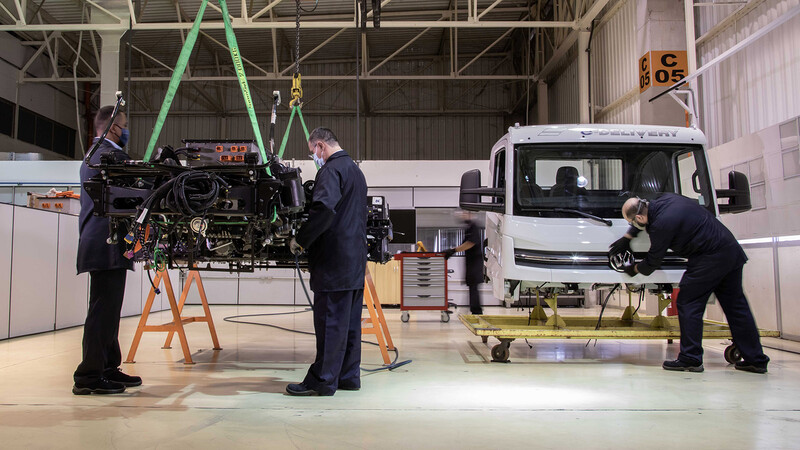 Primeros camiones Volkswagen e-Delivery en fase de pre-producción
