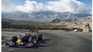 El F1 de Red Bull Racing corrió a más de 5,000 metros de altura