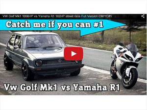 Yamaha R1 Super Bike vs Volkswagen Golf de 1,000 Hp