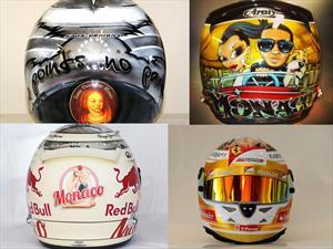 F1: Los mejores cascos de Mónaco 2013