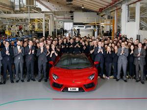 Lamborghini festeja las 5 mil unidades del Aventador
