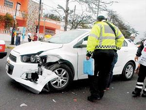 Hay más de 400,000 accidentes viales al año en la Ciudad de México