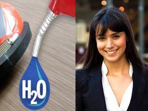 Una joven colombiana reemplaza combustible por agua en un carro a escala