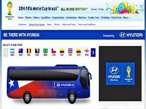 """Chilenos podrán crear el logo del bus de la """"Roja"""" para el mundial Brasil 2014"""