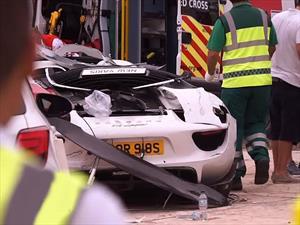Desafortunado accidente de un Porsche 918 Spyder