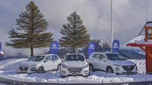 Invierno 2019: Hyundai muestra a la Santa Fe en Chapelco
