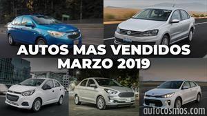 Los 10 autos más vendidos en marzo 2019