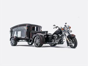 Esta Harley-Davidson fue transformada en carroza fúnebre