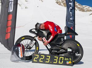 Récord mundial de velocidad en una bicicleta de montaña