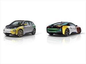 BMW i3 e i8 Memphis Style, coloridos y festivos