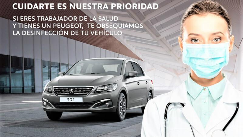 Peugeot se suma al cuidado de los trabajadores de la salud