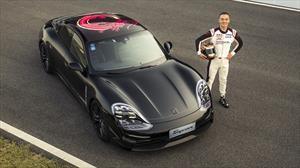 Porsche Taycan 2020 rueda en China antes de su lanzamiento internacional
