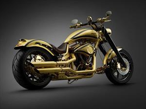 Goldfinger, la motocicleta cubierta en oro y diamantes
