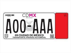 Así son las nuevas placas de la CDMX