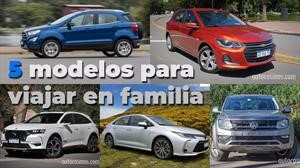 5 autos ideales para viajar en familia