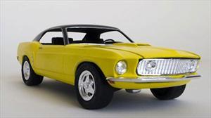 Artista construye un Ford Mustang 1969 de tamaño real hecho con papel