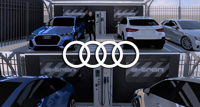 Audi inaugura estaciones de carga eléctrica en Argentina