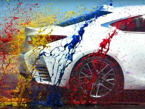 Lexus RC F Sport y sus 467 hp en slow motion