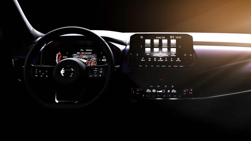 Este es el interior de la nueva generación del Nissan Qashqai