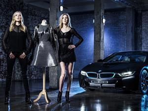 BMW i8 inspira un vestido de fibra de carbono
