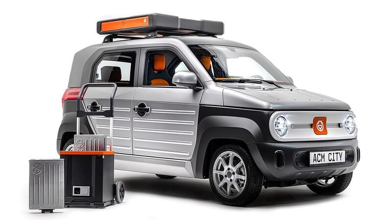 ACM City One, un vehículo eléctrico que tiene baterías intercambiables