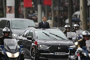 La DS 7 Crossback de Macron, protagonista en París