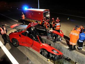 Brutal accidente de una Ferrari F430