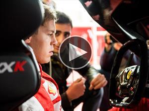 Video: Sebastian Vettel conduce el Ferrari FXX K en su habitat natural