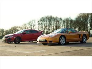 NSX 2005 vs Civic Type R 2018, ¿cuál es más rápido en el cuarto de milla?