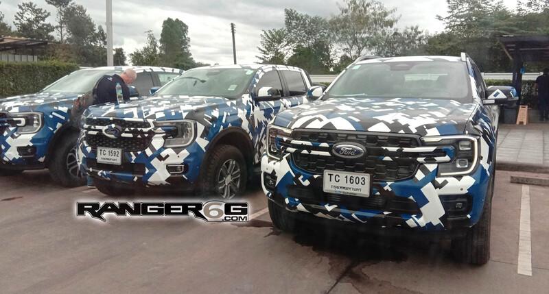 Nueva Ford Ranger: fotos espía de distintas versiones de la pick-up