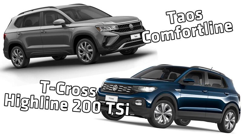 VW T-Cross full y VW Taos base valen casi lo mismo ¿Cuál me compro?