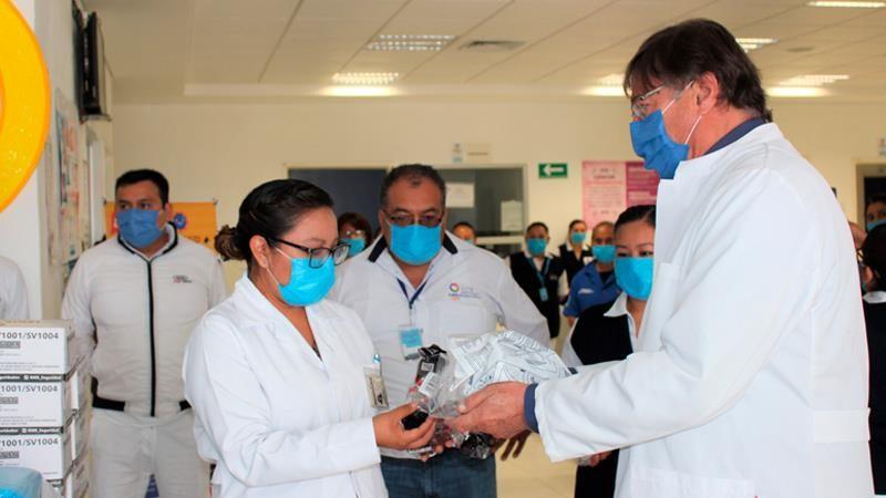 Audi dona equipo de protección médico en Puebla