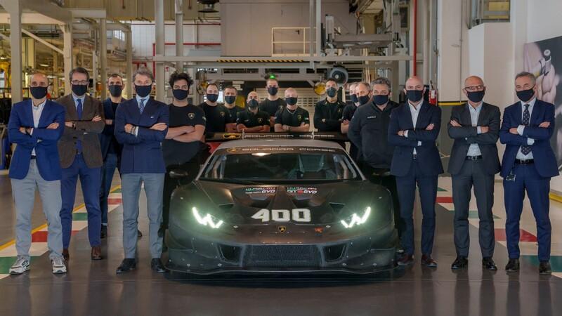Lamborghini alcanza las 400 unidades de competencia basadas en el Huracán