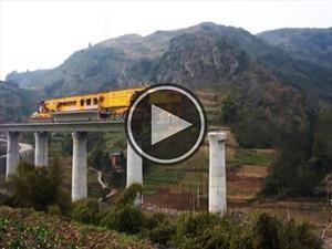 La construcción de un puente a máxima velocidad
