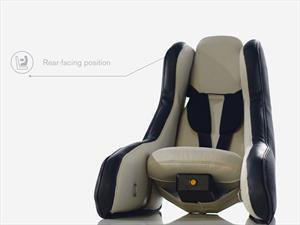 Volvo diseña autoasiento inflable para niños