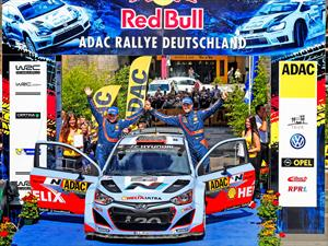 Hyundai Shell World Rally Team celebra un histórico doblete en fecha de Rally de Alemania