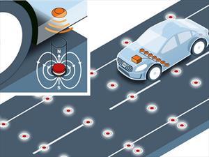 Volvo busca guiar vehículos autónomos con imanes