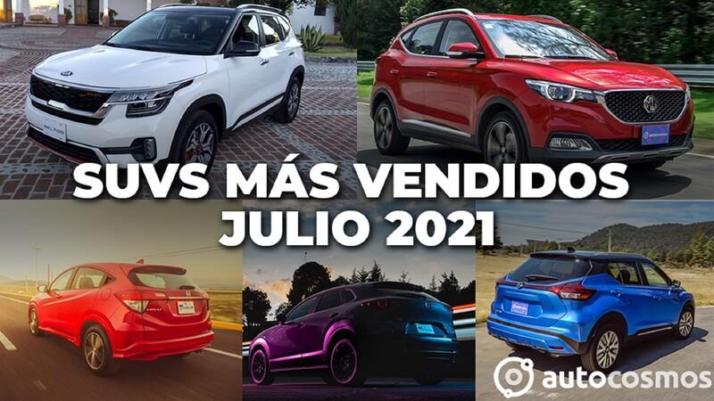 Los 10 SUVs más vendidos en julio 2021