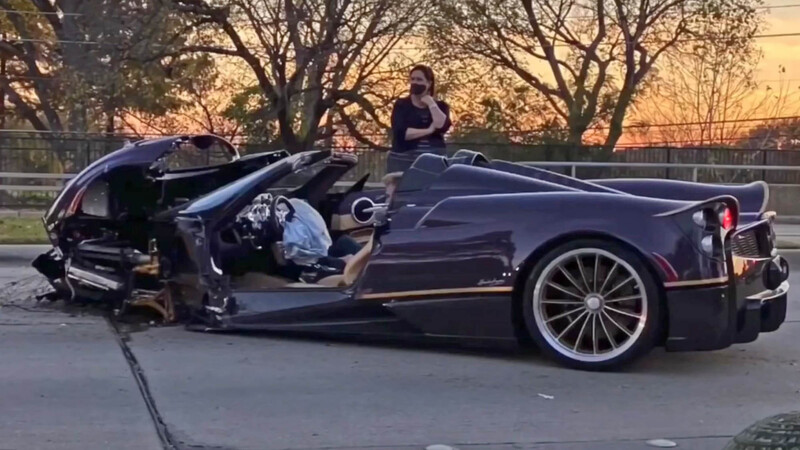 YouTuber choca un exclusivo Pagani Huayra Roadster