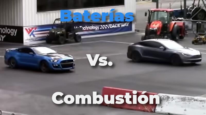 Video: un Mustang Shelby GT500 acaba con el Tesla Model S Plaid