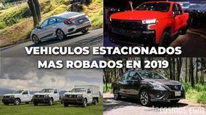 Los autos estacionados más robados durante 2019 en México
