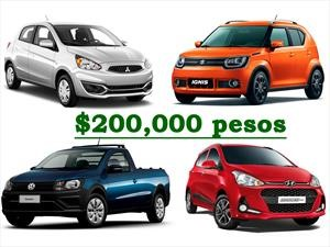 ¿Qué auto nuevo me compro con $200 mil pesos?