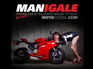Ducati Manigale, una divertida parodia con modelos masculinos