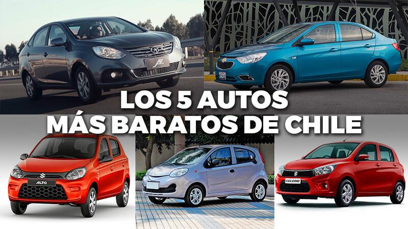 Estos son los 5 autos más baratos que se venden en Chile