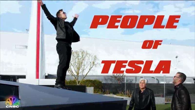 Tesla Cybertruck y Elon Musk en El Garaje Jay Leno