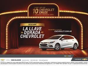 La llave dorada, tu oportunidad de ganarte un Chevrolet Cruze
