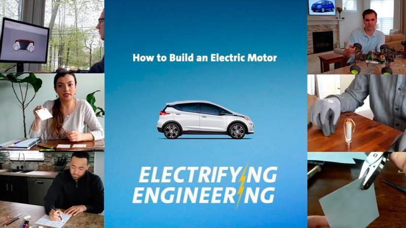 GM enseña a los jóvenes a construir un auto eléctrico