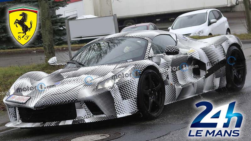 Ferrari ya prueba su nuevo hiperdeportivo con el competirá en Le Mans